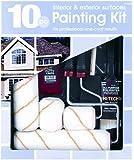 Gam Paint Brushes PT03510 10-Piece Professional Painting Kit