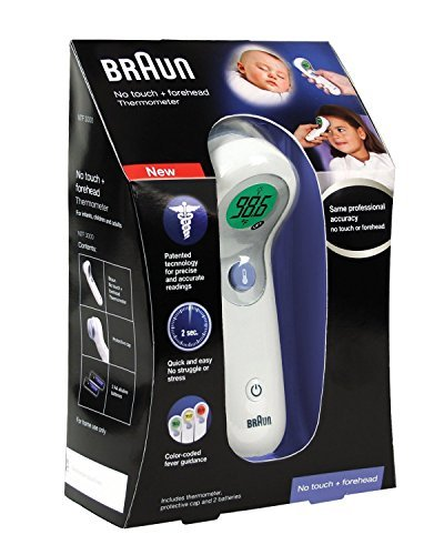 Braun NTF3000US Braun No Touch plus Forehead Thermometer Twin Pack by Braun by Kaz Incorporated