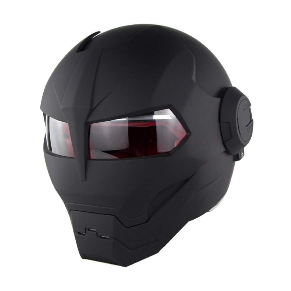 59-60cm Casco Da Moto Crash Modular Casco Da Motociclista Omologato Full Face ECE Con Parasole Per Uomo Adulto Casco Moto Da Motociclista Anteriore Flip Up,Matteghostclaws-XL: Casco Da Motociclista