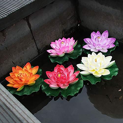 BLagenertJ-Artificial-Lotus-Flower-Vivid-Floating-Water-Lily-Decoration-Garden-Pond-Fish-Tank-Performance-Props-Light-Purple