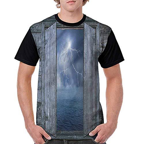 Fashion T-Shirt,Thunder Bolt at Night Fashion Personality Customization