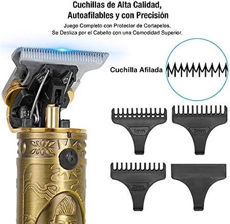 ZITFRI Máquina Cortapelo para Hombres Recortadora Eléctrica Maquina Cortar Pelo Profesional Impermeable Maquina Afeitar Barba de Precisión USB Carga Maquinilla de Afeitar Hombre Cortapelos Hombre