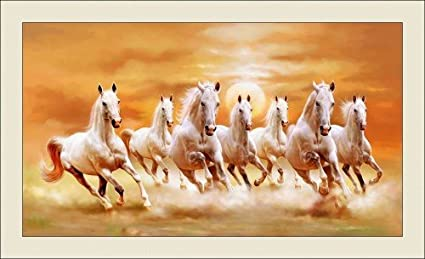 Shine India Rubberized 7 Horse In Right Direction Painting As Per