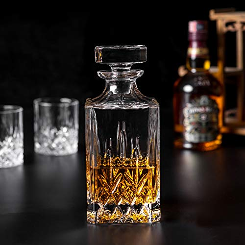 KANARS Whiskey Decanter And Glass Set In Unique Luxury Gift Box - Original Crystal Liquor Decanter Set For Bourbon, Scotch or Whisky, 5-Piece by KANARS (Image #7)