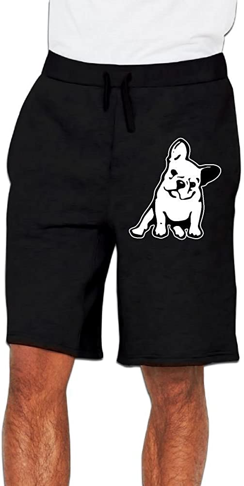 Yecx-1 Mens French Bulldog Jogger Shorts Gym Short