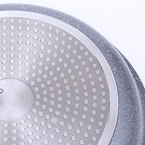 ZHNA Ménage Poêle Poêle au gaz antiadhésif Universel Pan avec Couvercle en Verre 24x7.5cm