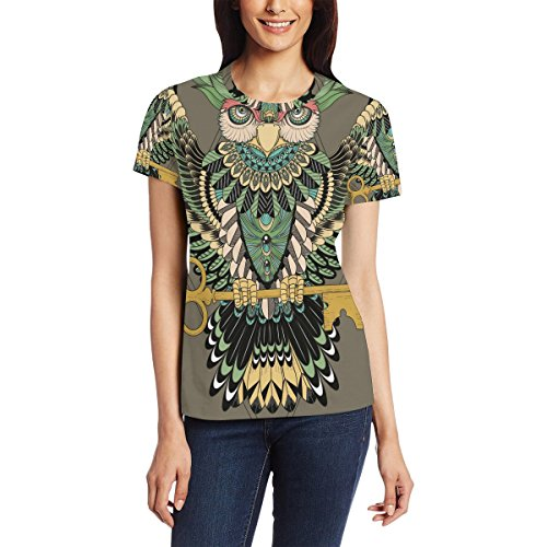 Native American Indian Art Prints Women's 3D Printed Short Sleeve T-Shirt Top Tee