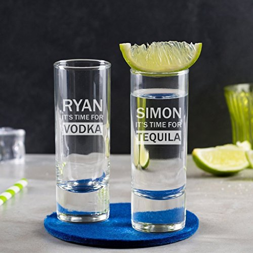Personalized Shot Glass/Personalized 21st Birthday Gifts/Engraved Shot Glass/Personalized Engraved Glass/Alcohol Gifts For Men ()