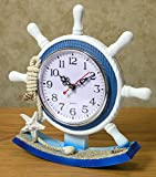 Nautical-Clocks-Sailboat-Steering-Wheel-Helm-Decoration-Nautical-Decor-Beach-Decorations-85-Inch