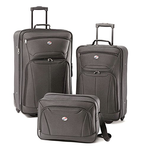 Duffel Delsey Lightweight - American Tourister Luggage Fieldbrook II 3 Piece Set (One Size, Charcoal)