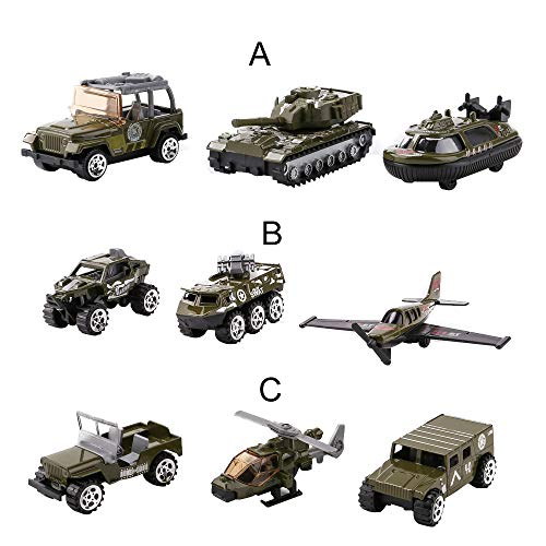 (Livoty 3pcs Mini Tank Model Toys Children Military Educational Toy Truck Car Tank Model Scenes Set (B))