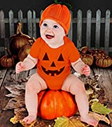 Cute Little Pumpkin - Halloween Infant Jack O' Lantern Baby Bodysuit
