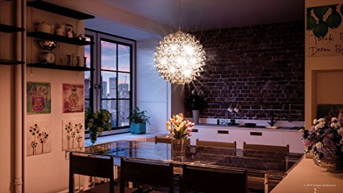 Luxury Modern Chandelier, Large Size: 23.5''H x 23.5''W, with Eclectic Style Elements, Polished Chrome Finish and Crinkled Metal Ribbon Shade, Includes G9 Xenon Bulbs, UQL2611 by Urban Ambiance by Urban Ambiance (Image #1)