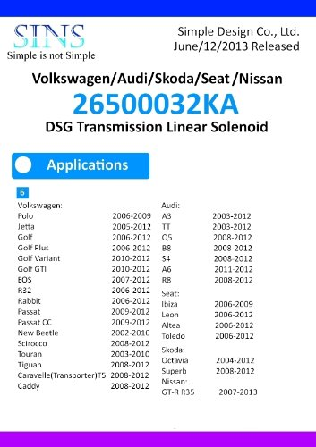 Volkswagen/Audi/Skoda/Seat 02E(DQ250) 0BH(DQ500