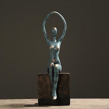Moderno Minimalista Yoga Chica Escultura Artesanías Adornos ...