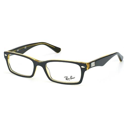 63ad88ec4d6 Amazon.com  Ray-Ban RX5206 Eyeglasses-5373 Brown Clear-52mm  Shoes