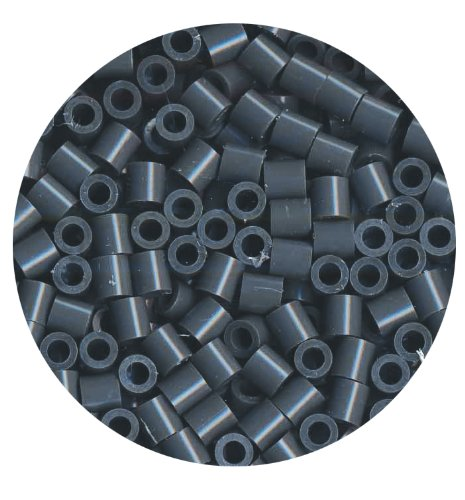 Perler Beads 1,000 Count-Dark Grey