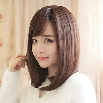 Amazon.com  Air bangs short hair wig Girls long Korean