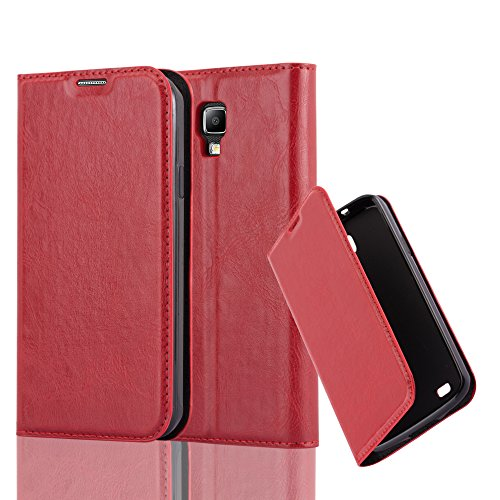 Cadorabo Book Case Works with Samsung Galaxy S4 Active in Apple RED - with Magnetic Closure, Stand Function and Card Slot - Wallet Etui Cover Pouch PU Leather Flip