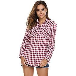 Women's Plaid Flannel Shirt