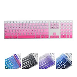 All-inside Ombre Pink Keyboard Cover for iMac Wired USB Keyboard
