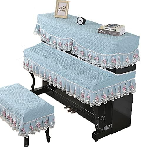 피아노 커버 레이스는 올 인클루시브 간단한 피아노 먼지 방지용 커버 전체를 커버 높은-엔드 빛 호주 MID-열 전기 피아노 커버 피아노 대변 COVER(색깔: 크기:피아노 커버를+두 배 좌석 커버)