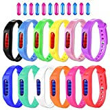 Mosquito Repellent Bracelet, 12 Pack 100% Natural Mosquito Repellent Band Safe For Kids