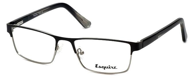 5fe519c15d Amazon.com  Esquire Designer Reading Glasses EQ1523 in Black 53mm ...