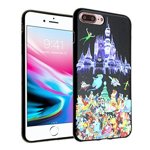 Disney Castle iPhone 8 Plus Case, iPhone 7 Plus Case, IMAGITOUCH Anti-Scratch Shock Proof Slim Fit Flexible TPU Case Bumper Cover for iPhone 8 Plus / 7 Plus Disney Character Castle Bumper