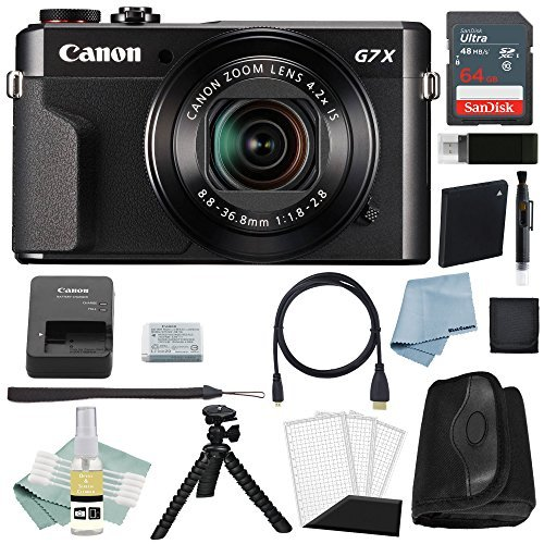 Canon G7x Mark II Digital Camera Bundle + Canon PowerShot g7 x Mark II Deluxe Accessory Kit - Including EVERYTHING You Need To Get Started ()