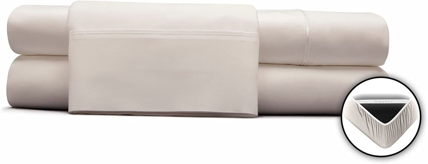 DreamFit Choice Natural Cotton Sheet Set Twin Size in White