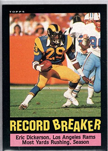 Football NFL 1985 Topps #2 Eric Dickerson RB LA Rams