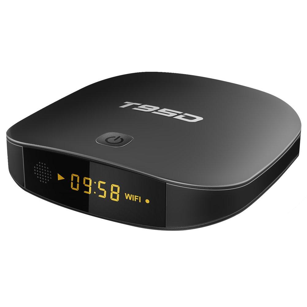 Android 6.0 TV Box Rockchip RK3229 1GB RAM 8GB ROM Quad-core T95D Media Player with 2.4GHz WiFi 4K Ultra HD H.265 HDMI 2.0