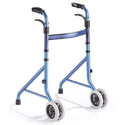 LIBWX Caminante Plegable de Anciano, Andador de aleación de ...