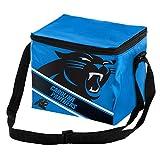 NFL Carolina Panthers  Big Logo Stripe 6 Pack Cooler, 9 in. x 6 in. x 7 in.
