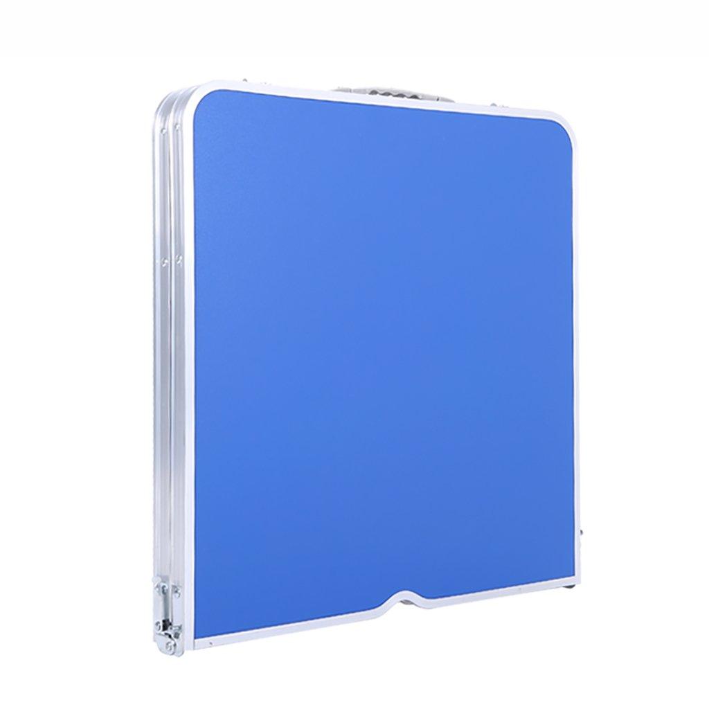 ポータブルハンドヘルド屋外ピクニックテーブル折りたたみテーブル高さ調節可能な中間棚が糞便傘を設定することができる* 4 (色 : Blue) B07FN2SFCT Blue