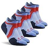 Running Socks Men, ZEALWOOD Quick Lyte Single Tab Socks,Men's Outdoor Trail Sock Merino Wool Cushion Socks Pack of 3,Run Light Sport father's Gift Socks-Blue/Black, Large