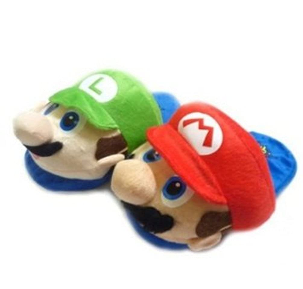 Kids Slipper Set One Size Fits All up to 9 5601568 Super Mario Mario /& Luigi