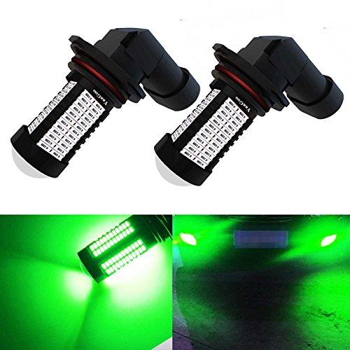 (YaaGoo 9006 Green LED DRL Driving Fog Light,Replacement of Halogen,360 degree super bright,106pcs LED bulbs)