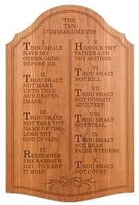 "The Ten Commandments, Wall Décor - Carved Cherry - 23"" x 15"""