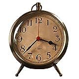 CXQ Modern European Style Desk Clock Bedroom Silent Mute Clock Home Gold Clock