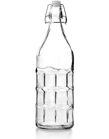 IBILI 740101 Botella Vidrio Claro 1 L 8 x 8 x 32 cm