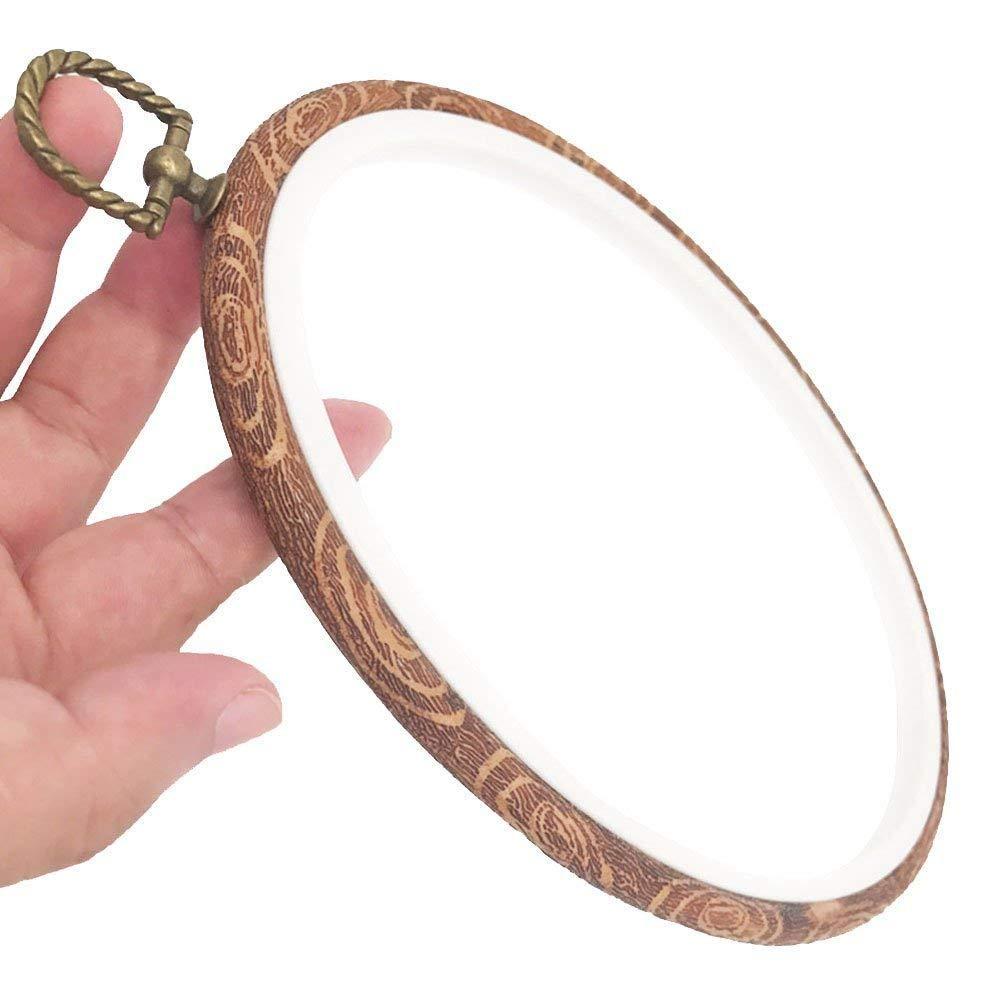 3 tailles zhongjiany 3 PCS Cross Stitch Hoop Set Cercles /à broder point de croix cerceau en vrac imit/é cercle de broderie en bois pour bricolage Art Craft Handy Sewing