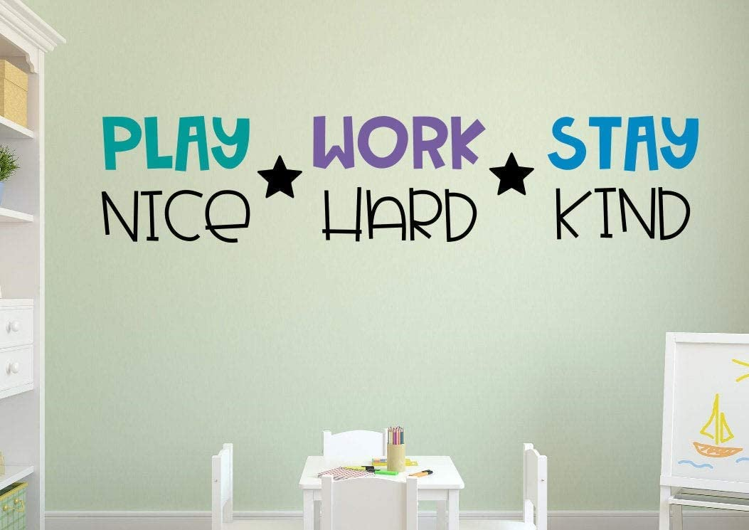 """IT/'S NOT A MESS IT/'S UNDER CONSTRUCTION Wall Vinyl Decal Letter Words Sticky 24/"""""""