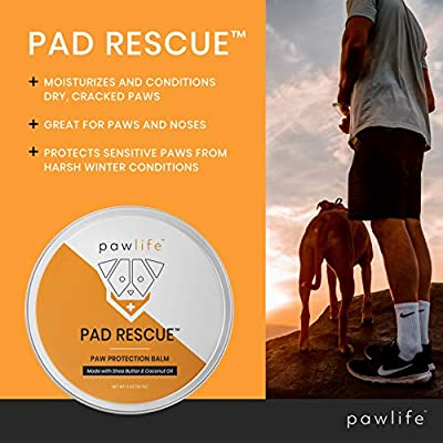 pawlife Dog Paw Balm - Natural Pad Protection Wax for Dry Cracked Paws - Protective Care for Dogs During Winter and Snow - Healing Formula for Pads and Nose