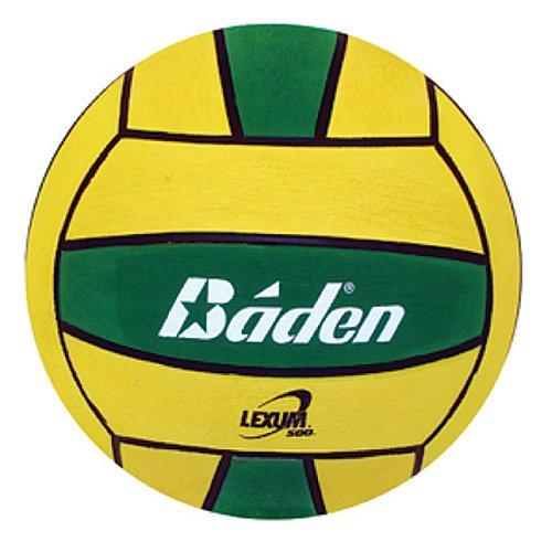 Baden Lexum Official Size 5 Deluxe Rubber Water Polo Ball, Green/Yellow