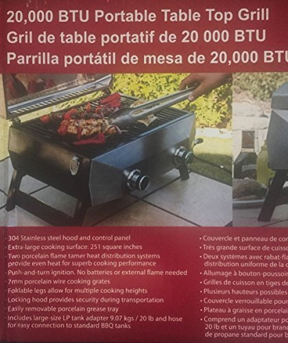 Nexgrill 20,000 BTU Portable Table Top Grill with 2 Burners