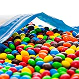 Bulk M&Ms Peanut Butter in a Resealable Bomber Bag - Guaranteed 5 lbs - Fresh, Tasty Treats – Great for Office Candy Bowls - Wholesale - Cooking - Baking - Vending - Holidays - Parties