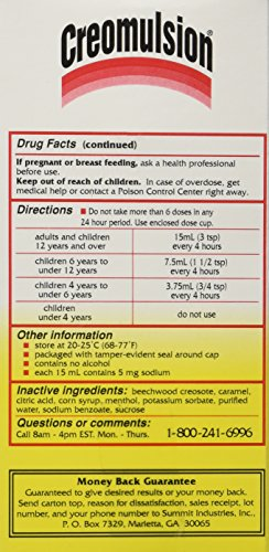 Creomulsion Cough Medicine 4 Oz Photo #4