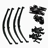 RC-FAST Black 1 Set Leaf Springs Set HighLift Chassis for RC4WD D90 1/10 RC Crawler Car Upgrade Parts